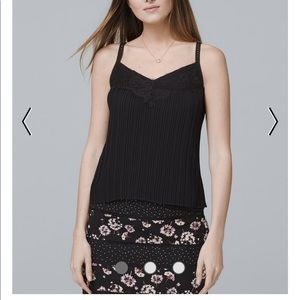 Black pleated cami top.